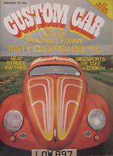 Custom Car magazine 01/1974 featuring Fiat 500, VW Beetle