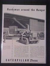 OLD RARE VINTAGE MILITARY CATERPILLAR ARMY CRANE WAR PRINT AD~ ANTIQUE WWII 1942