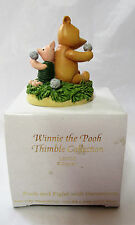Disney Lenox Thimble ~Pooh and Piglet with Dandelions~ Winnie the Pooh Figurine