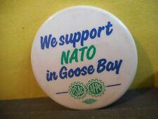 PSAC,Public Service Alliance of Canada Union Pinback,NATO Goose Bay,Newfoundland