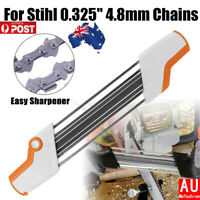 2 IN 1 Easy Chainsaw Chain File Sharpener Tool 0.325'' 4.8mm Replace For Stihl