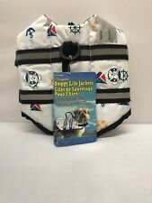 Paws Aboard Designer Dog Pet Life Jacket Vest NAUTICAL Print Extra Small