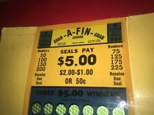Grab A Fin Tip Card Punch Board Pulltabs Trade Stimulator Gambling Casino NOS #4