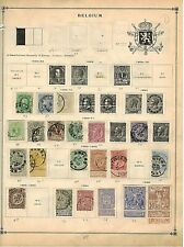 Belgium Stamps: Old Collection on 7 Album Pages