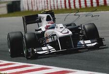 Kamui Kobayashi Hand Signed 12x8 Photo Sauber F1 1.