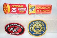 Vintage Trap Shooting Patches Winchester/Federal 25 Straight Trap Skeet Lot