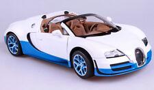 2014 Bugatti Grand Sport Vitesse weiß blau Modellauto 1:18 Rastar 43900