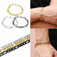 Charm Gift Jewelry Punk Titanium Stainless Steel Curb Chain Bangle Men Bracelet