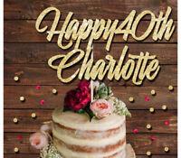 Personnalisé Avec Tout Nom 22 couleurs Custom Heureuse retraite cake topper