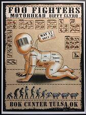 Foo Fighters Poster Tulsa, Ok - Bok Center 2011 Emek Signed, Numbered & Doodled