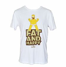 The Simpsons Fat & Happy T Shirt Authentic Size Medium