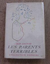 LES PARENTS TERRIBLES by Jean Cocteau - 1st HCDJ 1956 French Poupre