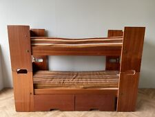 VINTAGE RETRO 70'S RARE BUNK BED BEDS WITH MATTRESS & STORAGE DRAWER UK DELIVERY