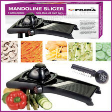 5 in 1 Professional Mandoline Slicer Julienne Cutter Chopper Fruit Vegetable BK