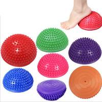 PVC Inflatable Yoga Half Ball Balance Trainer Fitness Massage Fitball Exer'QA