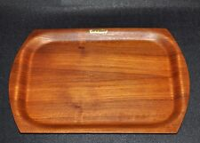 Langva Made in Denmark I Danish Modern Teak Tablett I Mid Century Bent Wood Tray