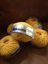 5 X 25g Sirdar shemara 100% cotton knitting yarn Yellow Col 558