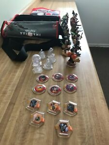 Disney Infinity Lot 38x Figures Playsets Crystals Power Discs Marvel Star Wars