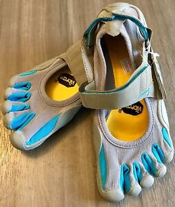 Vibram Fivefingers Running Shoes Womens EU 37 US 6.5 Sprint Blue Gray W1156 NWT