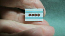 Vintage Chicago Flag  Enamel Pin with 4 stars