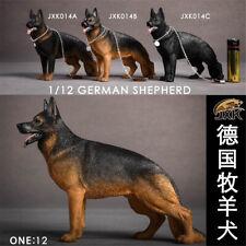 JXK 1/12 German shepherd Dog Pet Figure Animal Model Collector Kid Toy Xmas Gift