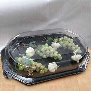 """Sandwich Platter Black Base & Clear Lid 14""""/360mm"""