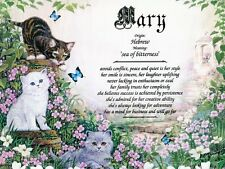 """""""Kittens"""" Name Meaning Print Personalized (Cats Kittens Feline Animals)"""