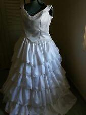 Layered Wedding dress white satin