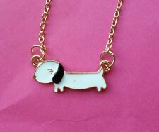 KITSCH QUIRKY Funky KAWAII SAUSAGE DaChShund Dog DOGGIE NECKLACE Gift