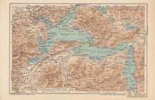 Vierwaldstättersee Urner See  LANDKARTE 1905