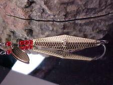 SB Weedless Flutter Mack Spoon 3/8oz Hammered Gold Metal Fresh/Saltwater Fish