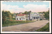 MOUNTAINHOME PA Post Office Toboggan Slide Vtg Postcard