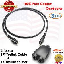 3FT Digital Optic Audio Toslink Cable ,3 Packs + Toslink Digital Audio Splitter
