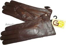 New Gorgeous Woman's Soft Leather Gloves Warm Winter Gloves Les Guant De Cuir bn