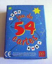 Ancien jeu de 54 cartes Mac Donalds, dimensions: 61 x 44 mm, en parfait état.