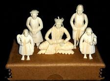 Antike Indische Figuren 5 Stück geschnitzt