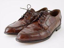 BELVEDERE Genuine Crocodile Leather - Brown Oxford Classic Shoes - Men's 8.5 M