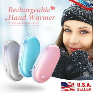 1-2 Pack Pocket Hand Warmer and USB Reusable Phone Charger Electric Power Bank