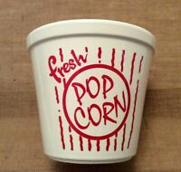 Cordon Bleu Porcelain Popcorn Bowl Glossy White Red Large Made In Portugal