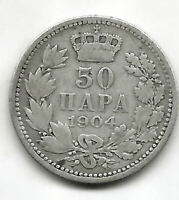 Yugoslavia 1904 Servia 50 Para Plata  @@ Bella @@