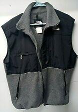 The North Face Full Zip Gray/ Black Fleece Vest Men's Size Large