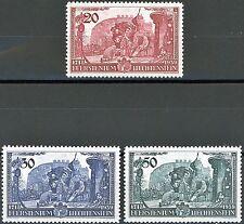 Liechtenstein 1939 Homage to Franz Joseph II 3 MNH Scott's 154 to 156
