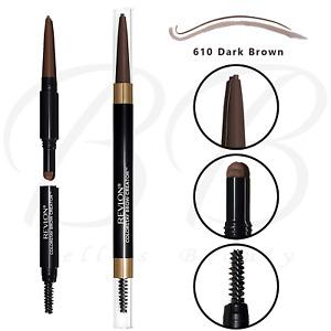 REVLON Colorstay Brow Creator Micro Pencil Powder and Brush-610 Dark Brown *NEW*