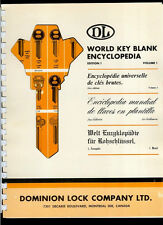 Super Rare Vintage Mid 1960's Dominion Lock Co DL World Key Blank Encyclopedia