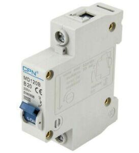 Cudis CPN MD120B 20 Amp Type B Single Pole 230V 6kA B20 Circuit Breaker MCB