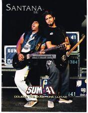 2002 PRS Santana SE Electric Guitars DAVE BAKSH of Sum 41 Vtg Print Ad