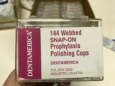 Dentamerica Dental Polishing Prophy Prophylaxis Cups Snap On 144pc