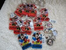 Various Mickey and Minnie Mouse Key Chains All NEW