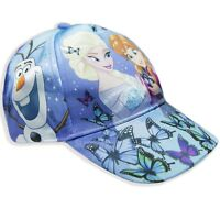 Disney Frozen Girls Baseball Caps Summer Sun Hat Hats 2-10 Years Satin NEW 2018