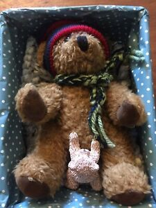 Vintage Sunkid Brown Teddy Bear 16cm Tall Gifted-